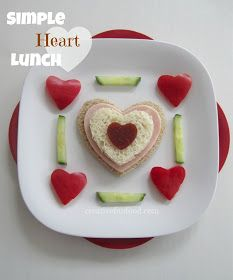 Heart-shaped lunch for Valentine's Day