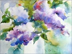 Watercolors by Maria Stezhko (Акварели Марии Стежко): Lilac - SOLD