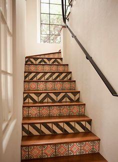 Beautiful tiled stairs, interior design, inspiration, Mediterranean