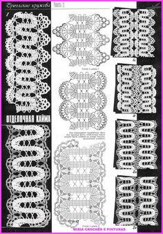MIRIA CROCHÊS E PINTURAS: BARRAS DE CROCHÊ N° 714