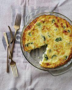 Crustless Broccoli and CheddarQuiche Recipe - Relish