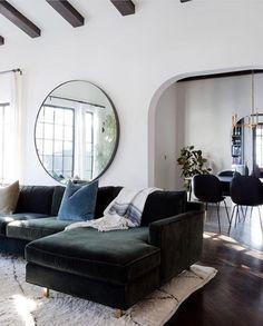 A beautiful living room via Elle Decor ♡