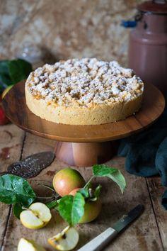 Omas blitzschneller Apfelkompott-Streuselkuchen - ganz einfaches Rezept