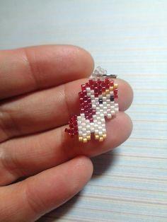 Unicorn charm beaded unicorn unicorn keychain beaded