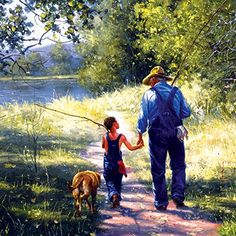 Artist unknown to me Art Drawings For Kids, Country Art, Landscape Pictures, Fish Art, Pictures To Paint, Figure Painting, Beautiful Paintings, Art Sketches, Early Childhood