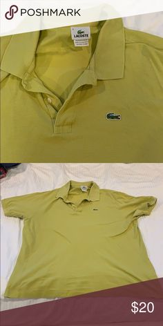 98f083c4144 Lacoste collard shirt Lacoste mustard yellow collard shirt Lacoste Shirts  Polos