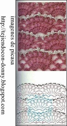 PATRONES - CROCHET - GANCHILLO - GRAFICOS: PATRONES PARA TEJER A CROCHET