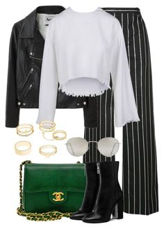 """""""Untitled #2468"""" by annielizjung ❤ liked on Polyvore featuring Balenciaga, Acne Studios, Charlotte Russe, Chanel and Forever 21"""