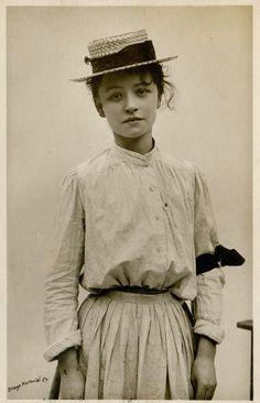 https://flic.kr/p/awkrhT | miss hilda trevelyan | vintage postcard 1906.  for many more unusual, beautiful and bizarre snapshots, see my 'perculiar snapshots' set.
