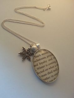 Game of Thrones Necklace Winter is Coming.  Game of Thrones Jewelry by GlamorousGlueDesigns, $16.00