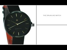 The Drumline watch by Newgate Watches. A minimalist all-black watch with...