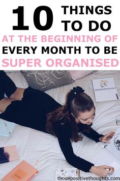 10 things to do at the beginning of the month to be super organized