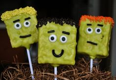 Frankenstein Rice Krispie Treats: A sweet and spooky treat just in time for Halloween