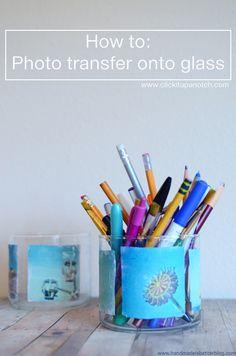 Photo transfer to glass