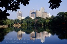 My fave views of atlanta, I have a version of this pic in my digital camera :P View of Midtown from Piedmont Park