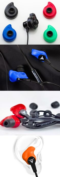Decibullz Molded Blue Earphones; These Decibullz Molded Blue Earphones will not only provide great sound but is also easier to mold. They can be molded based on the shape of your ears so that you get the perfect fit every time you wear them. The headphones will not hurt and will give you a superb noise isolating experience whenever you'll be listening to your favorite tracks.
