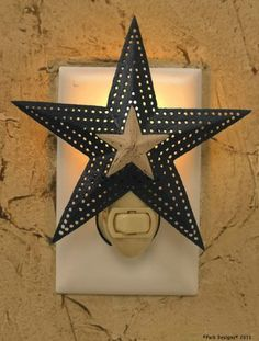 Cute night light for any primitive or country themed room