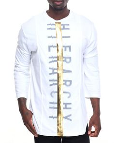 Find DBL Layer Gold Panel Hierarchy Side Zip Tee Men's Shirts from Koodoo