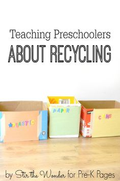 Talking About Recycling with Preschoolers. A great activity or lesson for your Preschool or Kindergarten kids for Earth Day. Teach kids the importance of recycling and caring for our planet. - Pre-K Pages