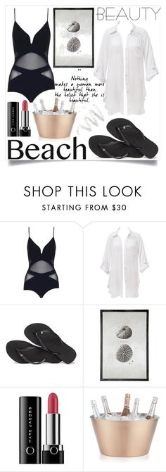 """""""Cool drinks"""" by kawtar-el ❤ liked on Polyvore featuring Zimmermann, Beauty & The Beach, Havaianas, BRIO, Marc Jacobs, Crate and Barrel, Cynthia Rowley and coverups"""