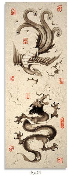 Fenix e dragão