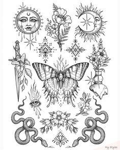 Tattoo sketches 543176405060856819 asia art gallery en beautiful design by artist sandraxstorm tag your friends share us to your source by nice sq benlii bilinen sonularla ilgili planlamalar yapmaz Flash Art Tattoos, Dope Tattoos, Dainty Tattoos, Mini Tattoos, Body Art Tattoos, Small Tattoos, Sleeve Tattoos, Tatoos, Tattoo Flash Sheet