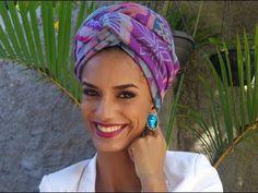 (1) Tutorial de turbante com echarpe - YouTube