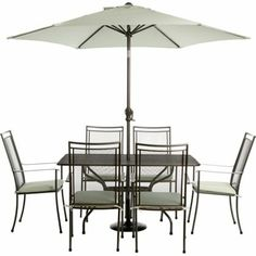 Garden Furniture 6 Seater milazzo rattan effect 6 seater garden furniture set - home