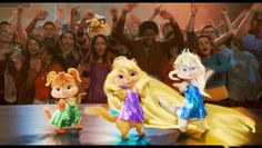 The Chipettes. Brittany as Rapunzel .