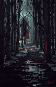 Forest & Beast – horror concept by Alena Aenami