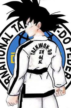 Taekwon-Do ITF cartoon back of uniform