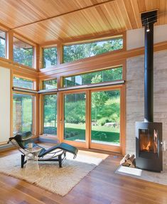 Gristmill Builders Stowe Vermont and Lake Placid New York   Residential   4 Green Mountain, New England Homes, New Homes, Cabana, Lake Placid New York, Exterior Wall Panels, Clerestory Windows, Living Room Remodel, Small Living Rooms