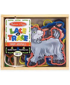 Melissa and Doug Kids Toys, Farm Animals Lace and Trace Panels - Kids - Macy's