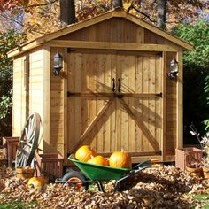Outdoor Living Today - 8 x 12 SpaceMaker Double Door Storage Shed - Default Title - Lawn and Garden  - Yard Outlet
