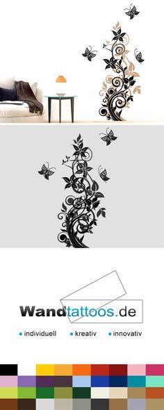 Wandtattoo bl hendes herzornament als idee zur individuellen wandgestaltung einfach - Zweifarbige wandgestaltung ...
