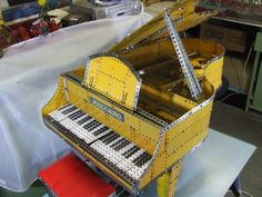 Meccano piano - lovely!