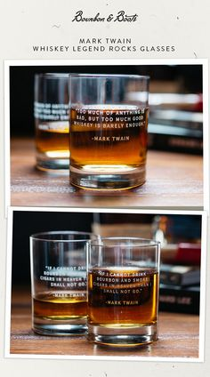 Our Whiskey Legends Rocks Glass collection is an amazing collection of stories and quotes that capture the full wit, wisdom, and audacity from the most famous whiskey lovers of the past century.  Each crystal glass is etched with a 'whiskey quote' and holds up to 12 ounces of your favorite spirit. Ships with two (2) glasses.  Mark Twain Abraham Lincoln Ava Gardner Johnny Carson W.C. Fields Winston Churchill Andrew Jackson Errol Flynn John Wayne William Faulkner