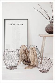 New York with baskets at Pure Love