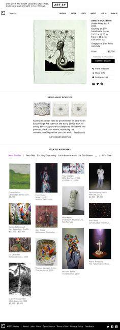 Website 'http://artsy.net/artwork/ashley-bickerton-snake-head-no-3' snapped on Snapito!