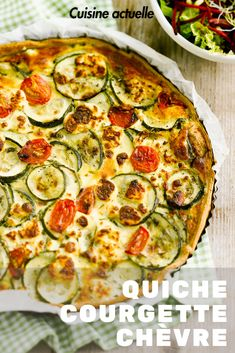 Eat Stop Eat To Loss Weight - Découvrez la recette quiche courgette chèvre sur Cuisine-actuelle. - In Just One Day This Simple Strategy Frees You From Complicated Diet Rules - And Eliminates Rebound Weight Gain Healthy Snacks, Healthy Eating, Healthy Recipes, Quiches, Zucchini Quiche Recipes, Healthy Quiche, Zucchini Pie, Goat Cheese Quiche, Dog Cake Recipes