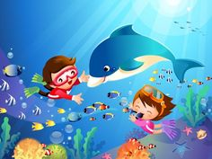 Children Wallpaper Children Wallpapers in HQ Resolution LL. Art Drawings For Kids, Drawing For Kids, Art For Kids, Child Wallpaper Hd, Underwater Drawing, Coffee Cartoon, Theme Sport, School Coloring Pages, Pirate Art