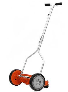 American Lawn Mower Push Reel Lawn Mower Deluxe hand-reel mower ideal for most turf grasses. Provides a clean, precise, scissor-like cut. Tempered Alloy Steel Reel and Bed Knife Blade. Reel Lawn Mower, Rotary Lawn Mower, Push Lawn Mower, Lawn Mower Tractor, Small Lawn Mower, Cheap Lawn Mowers, Landscaping Equipment, Lawn Equipment, Walk Behind Lawn Mower