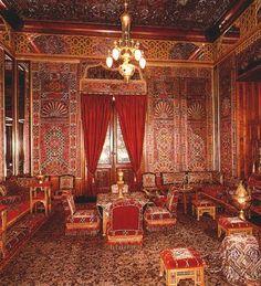 """Turkish"" room in Peles Castle, Romania."