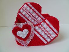 Valentine's Decorative Heart Container by brendashandmade on Etsy, $8.00