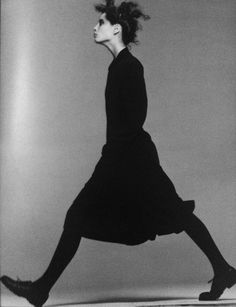 Christy Turlington by Peter Lindbergh for Comme des Garcons, 1986