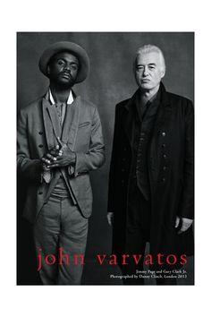 John Varvatos Taps Jimmy Page, Gary Clark Jr.  What a pair!!!