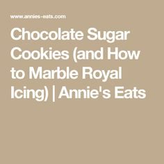 Chocolate Sugar Cookies (and How to Marble Royal Icing) | Annie's Eats