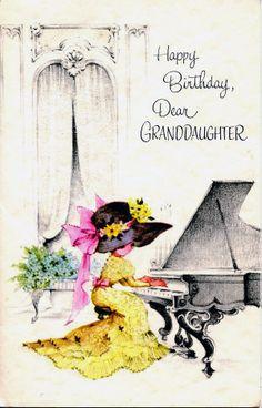 Happy Birthday Granddaughter 1950s