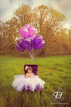 Baby Adalynn posing for her princess portrait before smashing the cake for her 1st Birthday session! #tulledress