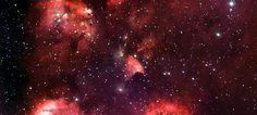 Rotes Sternbild Panorama Leinwand